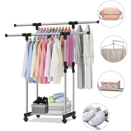 Garderobenständer Kleiderständer Kleiderstange Wäscheständer auf Rollen KOKO
