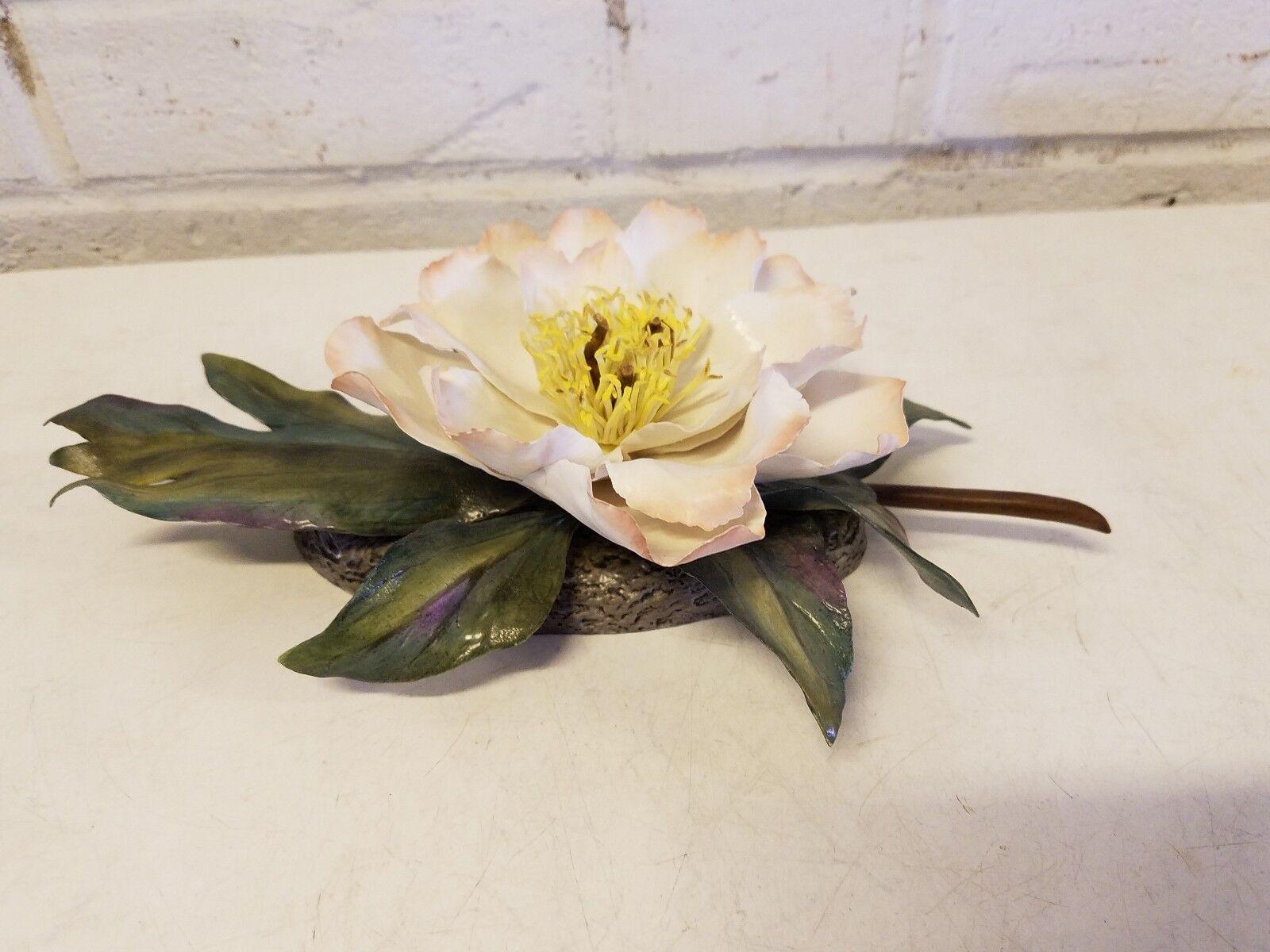 los últimos modelos Vintage Boehm Porcelana Pequeño blancoo blancoo blancoo Floral Stem Flor de Amapola  saludable
