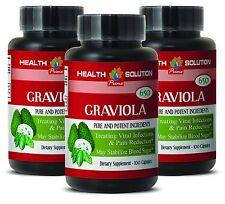 Blood Sugar Level - Graviola Seeds - GRAVIOLA EXTRACT 650 3 Bottles