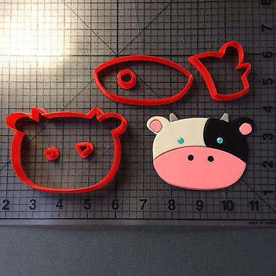 Cow Face 101 Cookie Cutter Set