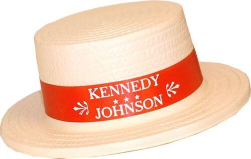1960 Kennedy Johnson Campaign Convention Delegate Skimmer Hat 3549