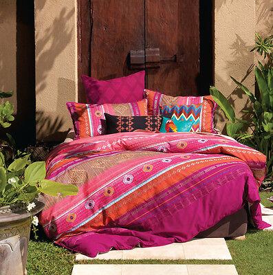 Linen House KING Bed Quilt Doona Cover Set 7 piece ZENATI Euros cushion covers