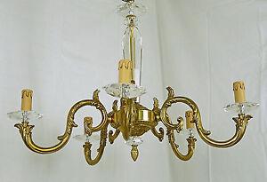 Lampadario Antico Ottone : Antico classico lampadario led col alba ottone oro francese