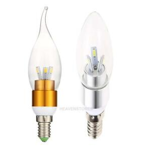 E14 Led Light 3w Candle Bulb Room Warm Cool White Flicker Power Candle Light Ebay