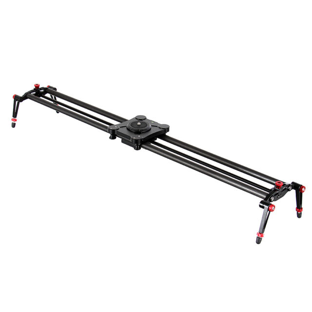"39"" 100cm Carbon Fiber SLR Track Dolly Slider Rail System Crane Video Stabilizer"