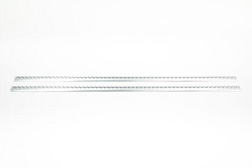 2x Alu Airlineschiene Zurrschienen halbrunde runde Form 2 m Slimversion light