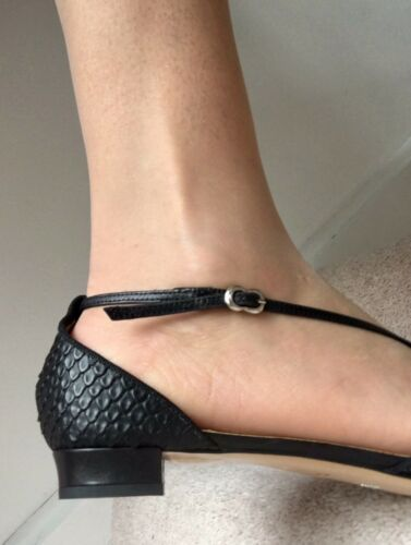 Sandali Emporio 8 ~ Size38 Heels0 Nero Armani 5uk Leather All OR5FxRS