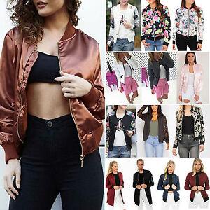 Women-Classic-Winter-Bomber-Jacket-Vintage-Zip-Biker-Coat-Tops-Stylish-Outerwear