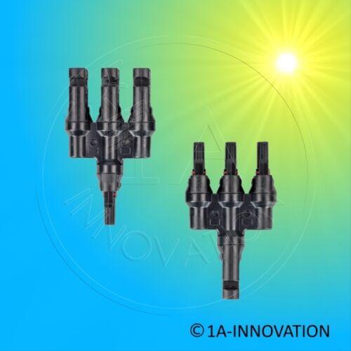 MC4 Y-Stecker 3-fach Verteiler Stecker Buchse Solarmodul Solaranlage