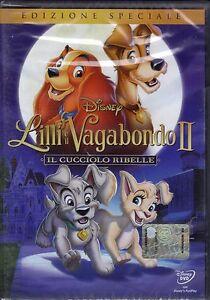 Dvd-Disney-LILLI-E-IL-VAGABONDO-II-2-IL-CUCCIOLO-RIBELLE-nuovo-2001