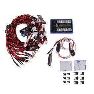 Sistema-di-luci-a-LED-12-luci-stroboscopiche-per-camion-RC-1-10-1-8-Traxxas