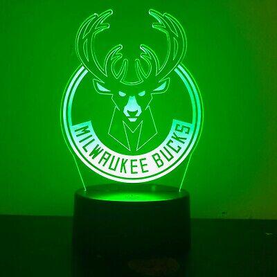 BULLS CHICAGO BASKETBALL 3D Acrylic LED 7 Colour Night Light Touch Table Lamp