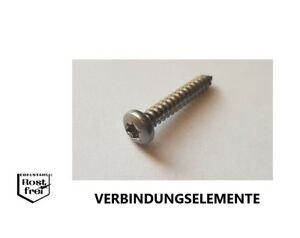 25 Blechschrauben DIN 7981 Linsenkopf FLANSCH Edelstahl A2 SCHWARZ 4,8X38 BLACK