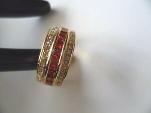 Vintage-Jewellery-Gold-Ring-Rubies-White-Sapphires-Antique-Deco-Jewelry-small-6