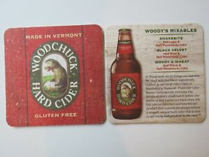 WOODCHUCK HARD CIDER Coaster Mat with GROUNDHOG VERMONT 2011 issue Middlebury