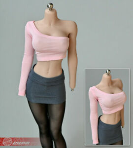 1:6 Halter Top Mini Skirt for 12inch Hot Toys Action Figure JO