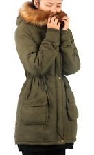 4d1ebce3bf iLoveSIA Womens Hooded Warm Winter Coats Faux Fur Lined Parkas Army ...