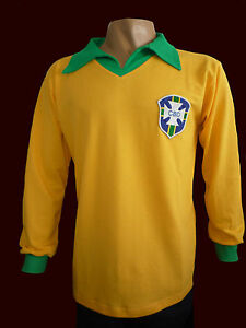 official photos f7eab 05218 Details about BRAZIL CHAMPION SOCCER WORLD CUP CHILE 1962 GARRINCHA Vintage  jersey - REPLICA
