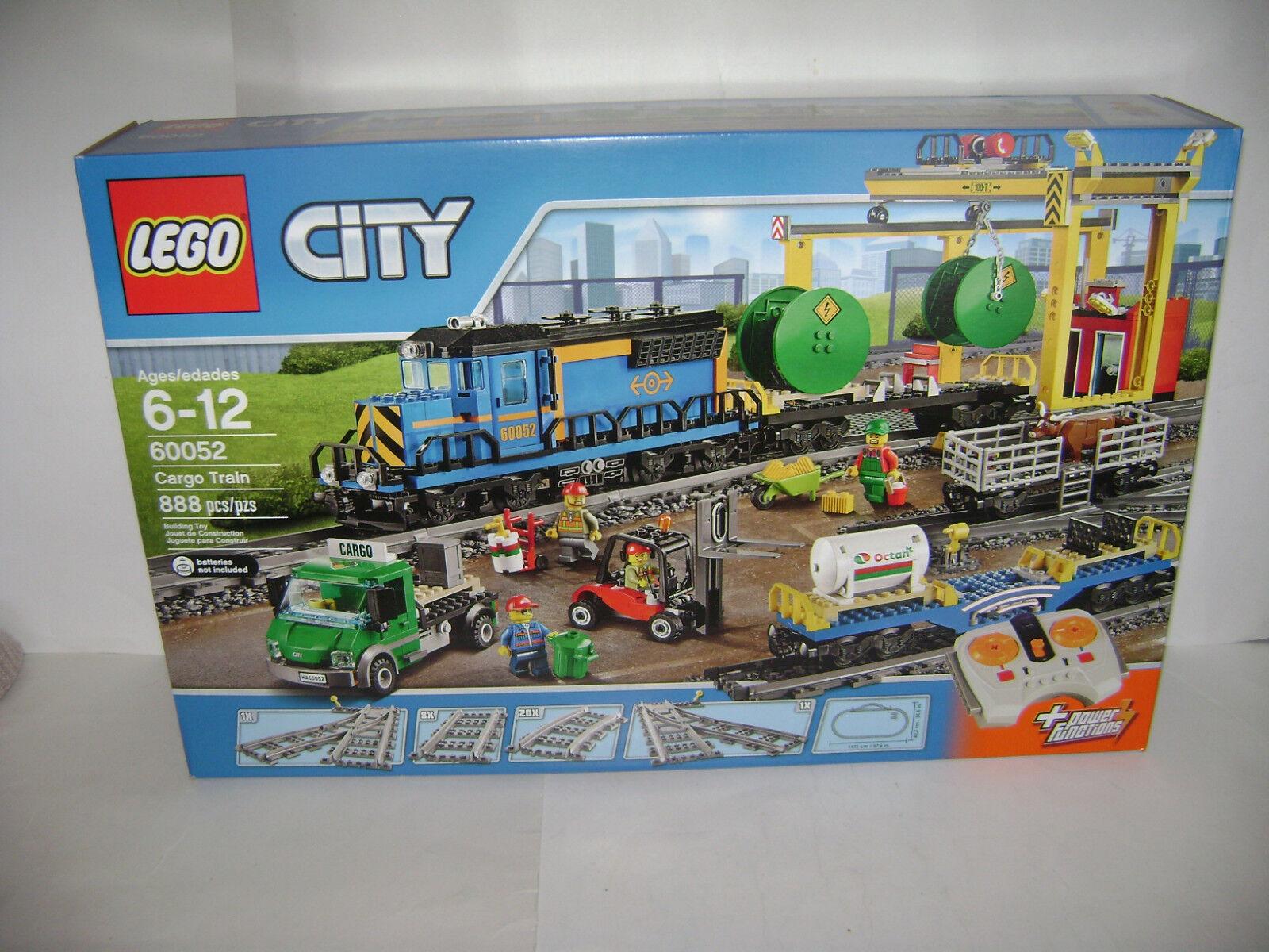 Nuevo Lego ciudad tren de carga de 888 piezas de 60052 potencia funciones realiza un seguimiento de un jubilado