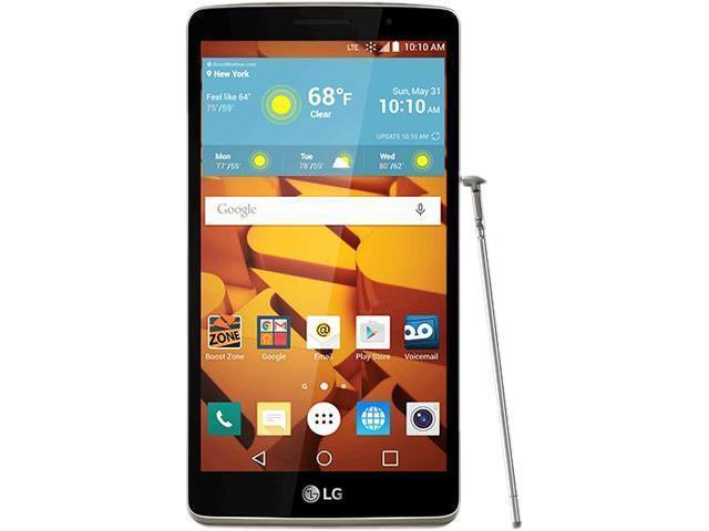 LG G Stylo LS770 - 8GB - Metallic Silver (Boost Mobile) Smartphone