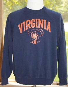 Bassett-Walker-Size-XL-Virginia-Mountaineers-Vintage-Crew-Neck-Sweatshirt-BS