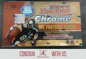 2000 BOWMAN CHROME FOOTBALL HOBBY BOX FACTORY SEALED BRADY ROOKIE YEAR A5141