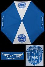 Zeta Phi Beta Sorority Auto Open Folding Umbrella-New!