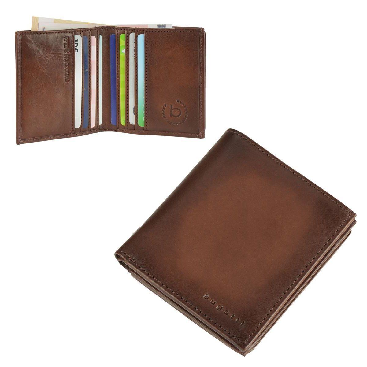 Bugatti Geldbörse RFID Kartenetui Kartenetui Kartenetui Leder Portemonnaie Geldbeutel Herren braun    Lassen Sie unsere Produkte in die Welt gehen  f8c97c