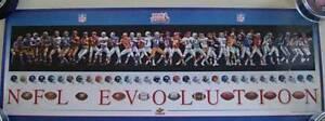 NFL Evolution SUPER BOWL XLI Football Uniform Poster