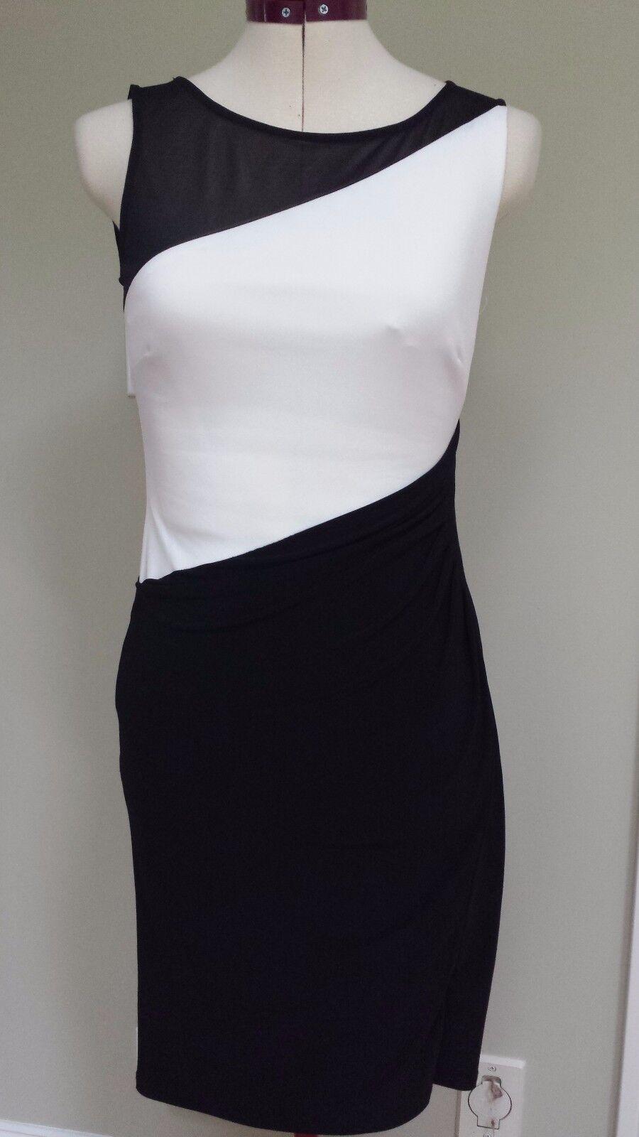 Lauren Ralph Lauren Mesh-Yoke Mesh-Yoke Mesh-Yoke Jersey Dress Size 10 4b842d