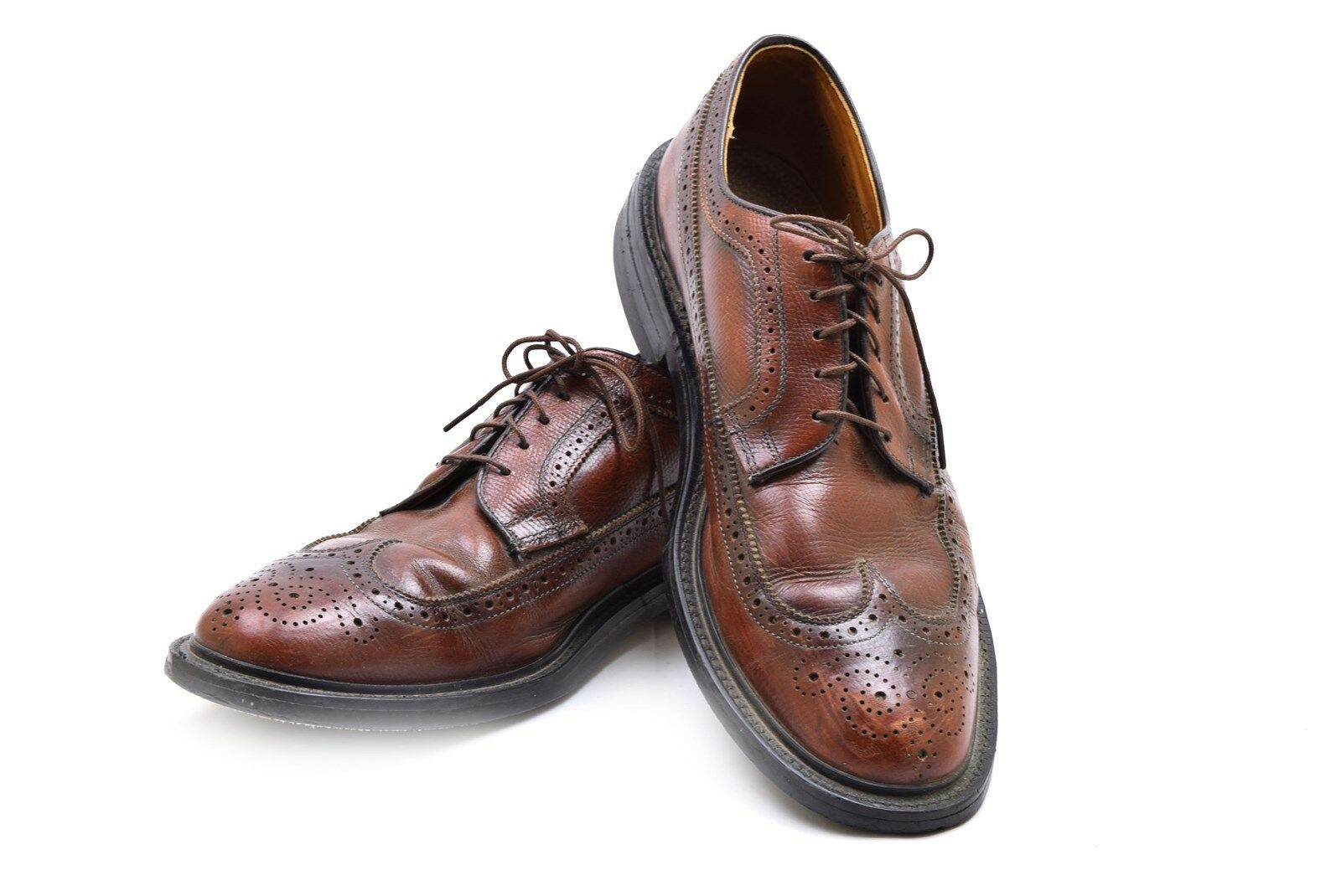 Vintage Sebago Neolite Goodyear braun Wing Tip Leather Oxford schuhe 9.5 C