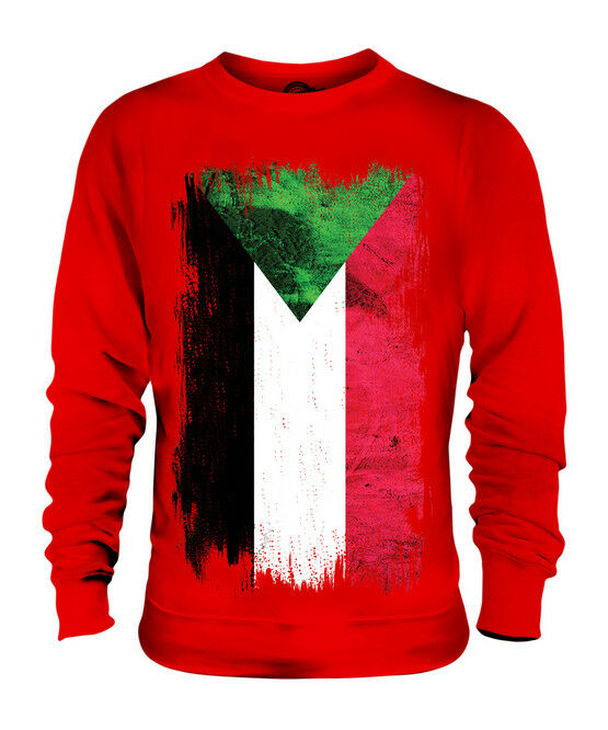 SUDAN GRUNGE FLAG UNISEX SWEATER TOP AS-SUDAN FOOTBALL SUDANESE GIFT SHIRT