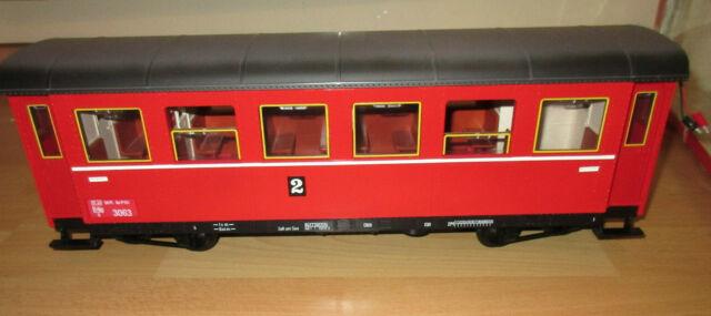 LGB 3063 Schnellzugwagen AB , rot, 2. Klasse, gebraucht