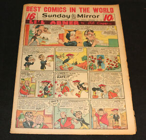 1951 Sunday Mirror Weekly Comic Section September 30th (VF) Superman Boring