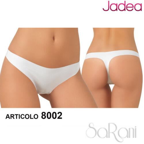 2 3 4 3 Slip Jadea Cotone Taglio Laser Art 8002 Perizoma Bianco Nero Nudo T