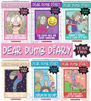 Dear Dumb Diary Year Two 1-6 By Jim Benton Pb Lot Set