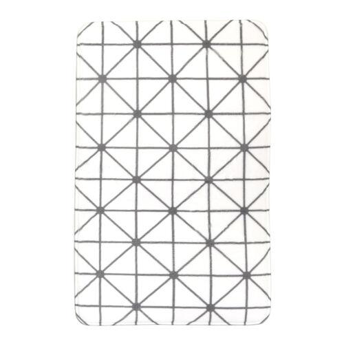 Geo Tapis de bain Tapis de douche Salle de Bain en Noir et Blanc Designs