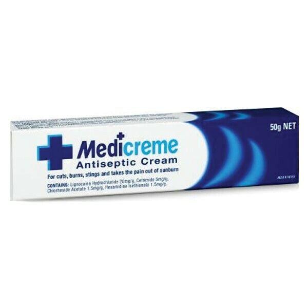 Medi Creme Antiseptic Cream 50g First Aid Treatment FREE POSTAGE
