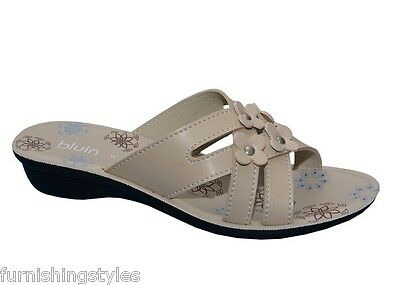 Mujer de las Señoras Zapatillas De Playa De Verano Resbalón en Zapatos Sandalias Tamaños Reino Unido