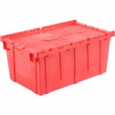 Attached Lid Shipping Container 27 316 X 16 58 X 12 12 Red With Dolly Combo
