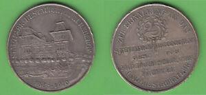 Stadtpark-Restauration-Nuernberg-1885-10-Reklamemarke-Medaille-versilbert-Gebaeude