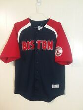 7ed71a69d Boston Red Sox Mens Large Embroidered Button Up Baseball Jersey Dynasty -  MLB