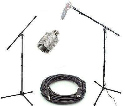 Studio Boom Kit for Rode Microphones - Boom Stand, Adapter, 25' Cable