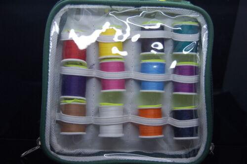 Thread en Bolsa de Plástico Protectora Montaje de Moscas 12x Carrete de Hilo