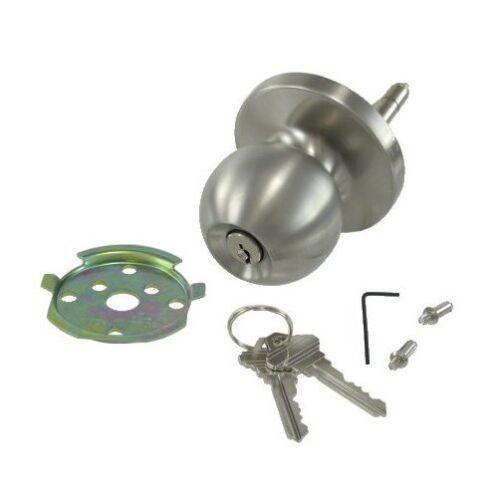Stainless Steel Lock w// Ball Knob for Panic Bars