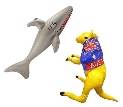 AUSTRALIA DAY INFLATABLES SET KANGAROO SHARK DECORATION PROP AUSSIE AUSTRALIAN