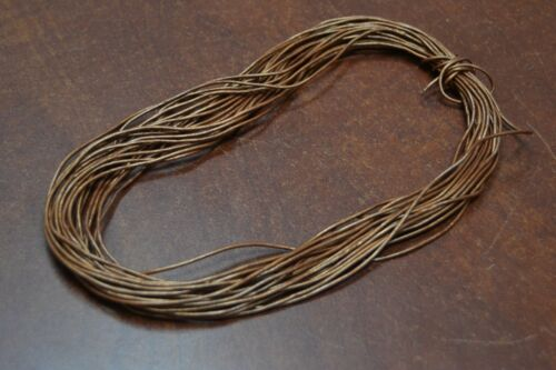 10 METER BROWN LEATHER BEADING CORD STRING 1MM #T-2760C