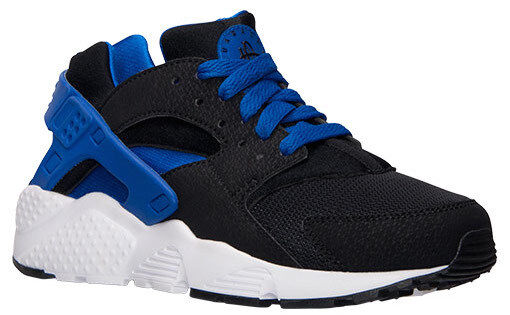 NIKE AIR HUARACHES RUN(GS) UNISEX TRAINER BLACK blueeE 654275-005 (PTI)