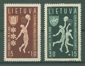 Lithuania G36 MNH 1939 2v Sports Basketball