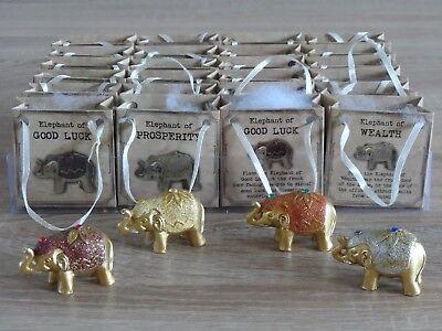 Metodico Lucky Mini Gold Glitter Piccoli Elefanti Asiatici Tavola Delle Feste Matrimonio Borsa Favori-mostra Il Titolo Originale Pacchetti Alla Moda E Attraenti